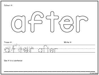 I Can Write My Sight Words - First Grade Words