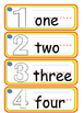 I Can Write Collection #1-Numbers 1-25 (Picture Word Cards)