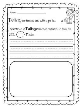 I Can Write Sentences - Teaching 3 Types of Sentence Writing