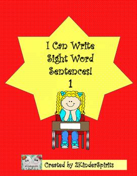 I Can Write Sight Word Sentences!    Freebie