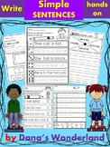 Writing Sentences Practice Hands On
