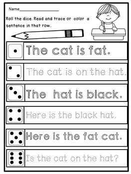 kindergarten handwriting practice sentences by dana 39 s wonderland. Black Bedroom Furniture Sets. Home Design Ideas