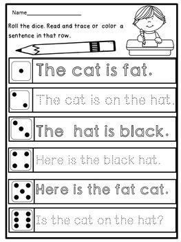 Kindergarten Handwriting Practice (Sentences)