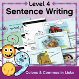 Level 4 Sentence Writing: Colons & Commas in Lists