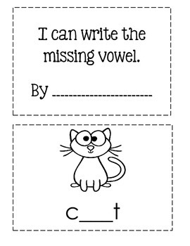 I Can Write The Missing Vowel