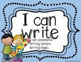I Can Write- Writing Center, Writing papers / templates, and Posters