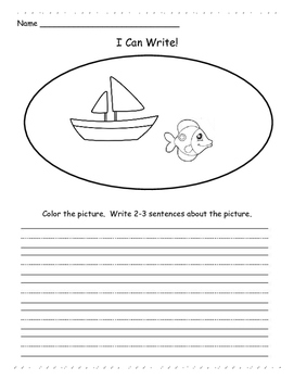 I Can Write! Writing Prompt Pages