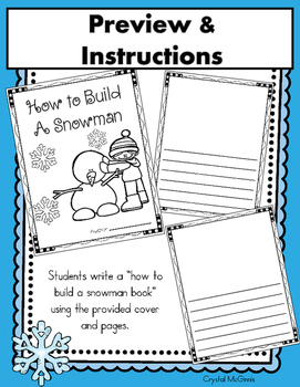 I Can Write a Book! (How to Build a Snowman) Book Template