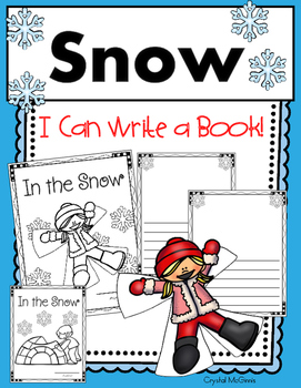 I Can Write a Book! (In The Snow) Book Template