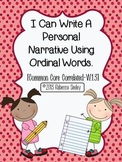 I Can Write a Personal Narrative- A Writing Unit For Little Learners