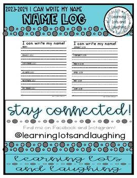 I Can Write my Name Log