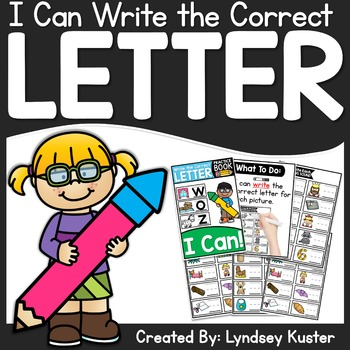 I Can Write the Correct Letter