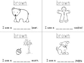 """I Can Write the Sight Word BROWN"" Mini Book"