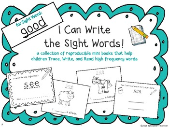 """I Can Write the Sight Word GOOD"" Mini Book"