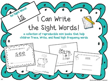 """""""I Can Write the Sight Word IS"""" Mini Book"""