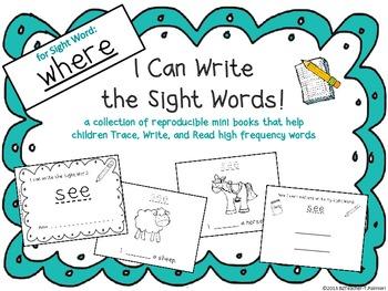 """I Can Write the Sight Word WHERE"" Mini Book"