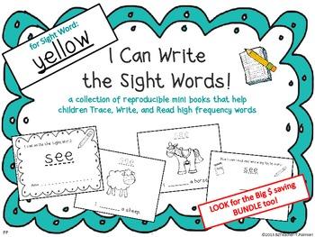 """I Can Write the Sight Word YELLOW"" Mini Book"