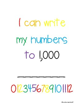 I Can Write to 1,000
