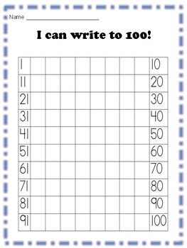 I Can Write to 100!