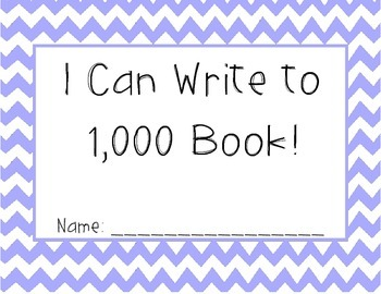 I Can Write to 1000 Book