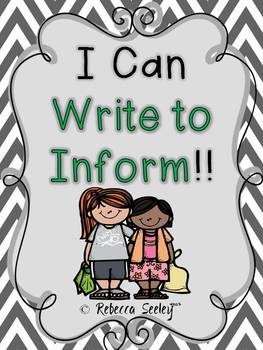 I Can Write to Inform- A Writing Unit for Little Learners