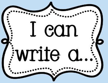 I Can Write...Bulletin Board