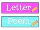 I Can Write…Writing Center Board