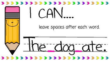 I Can... Writing Posters