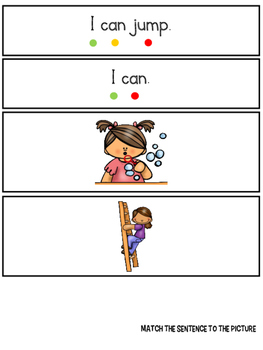 I Can - a leveled reader & actiities