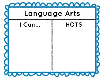 I Can and HOTS Classroom Wall Boards