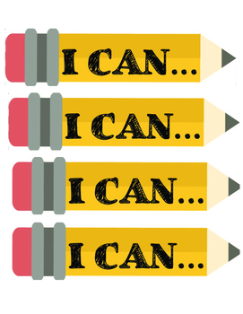 I Can and Word Palette Signs