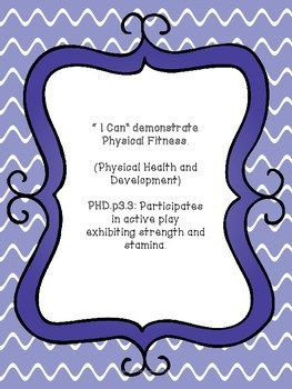 I Can developmental standards posters for Pre-K.