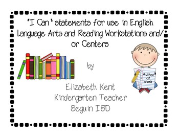 """""""I Can"""" mini-posters for use in ELAR workstations"""