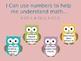 I Can statements Common Core Math- Kindergarten- owl theme