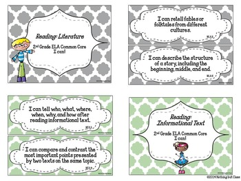 I Can statements for ELA Common Core-Grade 2