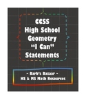 """""""I Can"""" statements for high school Geometry CCSS"""