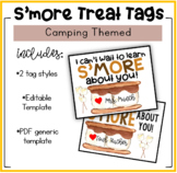Camping Themed: I Can't Wait to Learn S'More About You Treat Tags!