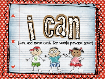 """""""I Can"""" task cards and name cards"""