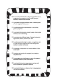 I Can Statements - 5th Grade TEKS