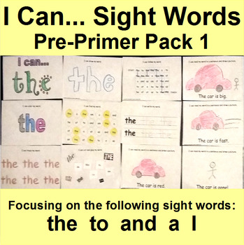 Interactive Sight Word Books  a, to, the, and, I