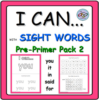 Interactive Sight Word Books you, in, it, said, for