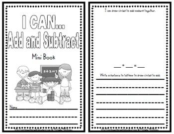 I Can...Add & Subtract Mini Book {Math Strategies}