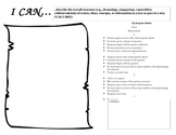"""""""I Can""""/Essential Question Response Log & Rubric"""
