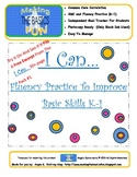 I Can...Skill and Fluency Timings for K-1