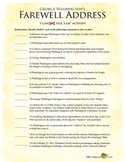 """""""I Cannot Tell A Lie"""" Activity for George Washington's Farewell Address"""
