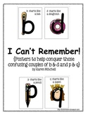 I Can't Remember! {Posters for conquering b & d and p & q.}