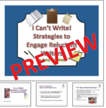 I Can't Write! How to Engage Uninspired Writers: A Literacy Coaching Tool