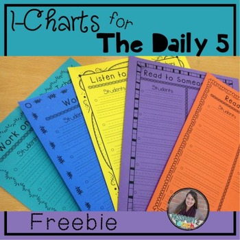 I-Charts for The Daily 5 FREEBIE