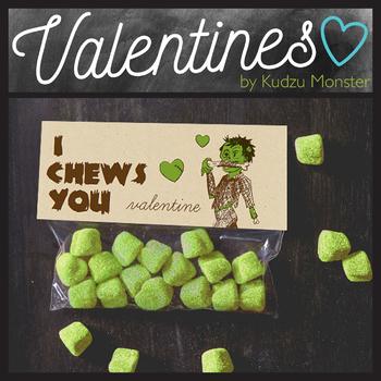 I Chews You Zombie Valentine Topper