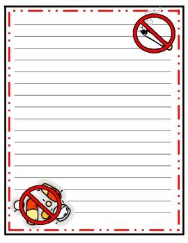 I Choose to Be Drug Free- Red Ribbon Week Writing Activity
